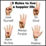 5 reglas para vivir Feliz