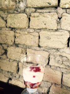 Postre Contra Pared Ladrillo